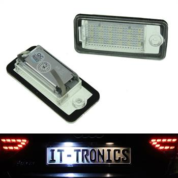 LED license plate light suitable for Audi A3 8P, A4 B6+B7 A5 Cabrio, A6 4F, Q7