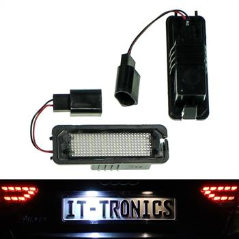 LED license plate light suitable for VW Golf 4/5 + Limo, Lupo, Polo 9N, Passat