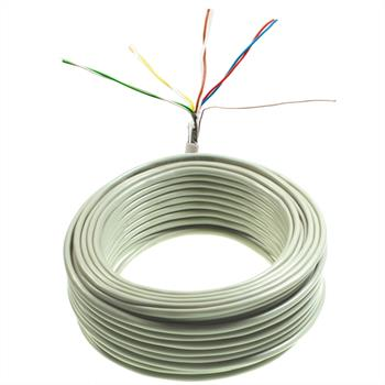 25m telephone cable 4x2x0,6mm JYSTY - 8 wires - telecommunication cables