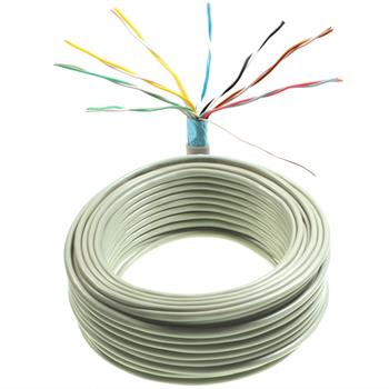25m telephone cable 8x2x0,6mm JYSTY - 16 wires - telecommunication cables