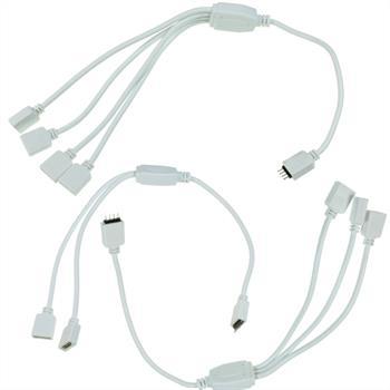 RGB Verteiler Adapter 1:2 / 1:3 / 1:4 Kupplung / Verbinder 30cm