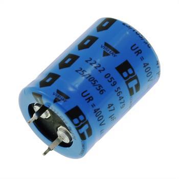 Snap-In Elko 47µF 400V 105°C 22x30mm