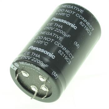 5-Pin Elko Kondensator 2200µF 250V 105°C ; ECET2EA222FA ; 2200uF