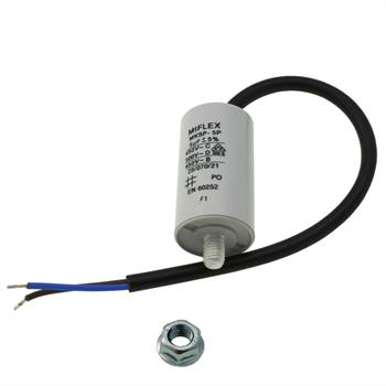 Starting / Motor Capacitor 5µF 450V 30x53mm Cable M8 ; Miflex ; 5uF