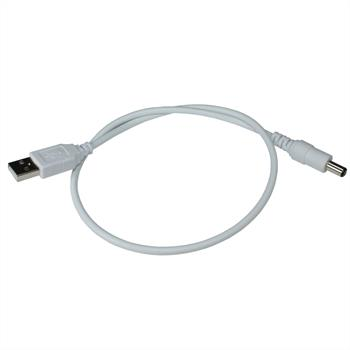 USB -> DC adaption cable 50cm for 5V LED-Strips ; 5,5/2,1mm Plug ; power cable