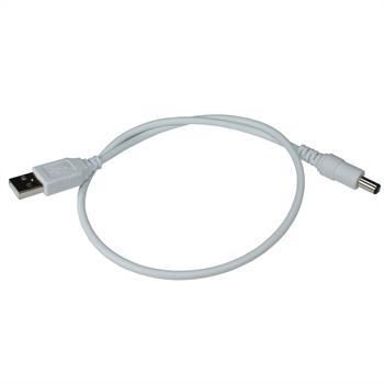 USB -> DC Adapterkabel 50cm für 5V LED-Streifen ; 5,5/2,1mm Stecker Stromkabel