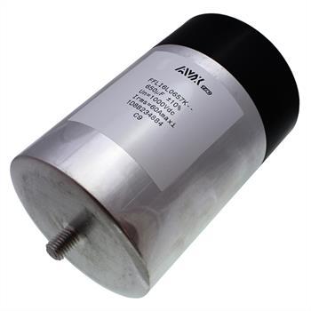 Medium Power Film Kondensator 650µF 1000V d100x152mm ; AVX FFLI6L0657K ; 650uF