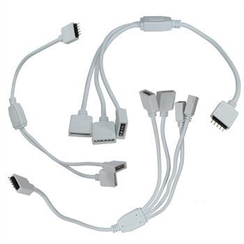 RGBW RGB+W Verteiler Adapter 1:2 / 1:3 / 1:4 Kupplung / Verbinder 30cm