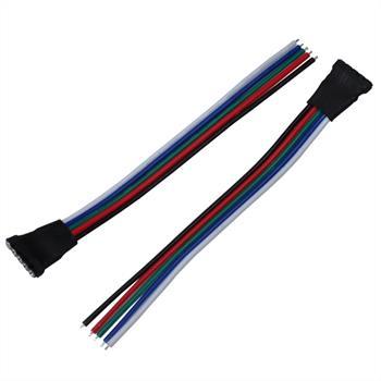 RGB+W RGBW Schnellverbinder Buchse - offene Enden - Länge ca. 10cm