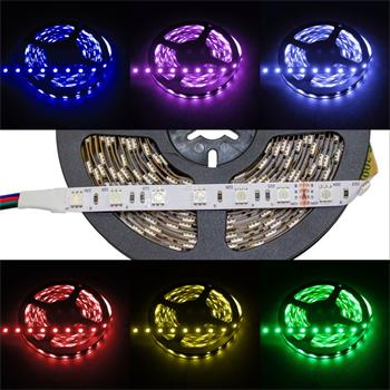 RGB LED Streifen 24V, IP20, 60LED/m, 5m