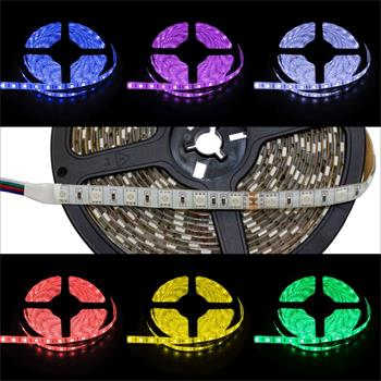 RGB LED Streifen 24V, IP65, 60LED/m, 5m