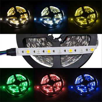 RGBWW 3000K LED Streifen 24V, IP20, 60LED/m, 5m