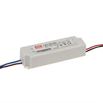 LED power supply 17W 9-48V 350mA ; MeanWell, LPC-20-350 ; Constant current
