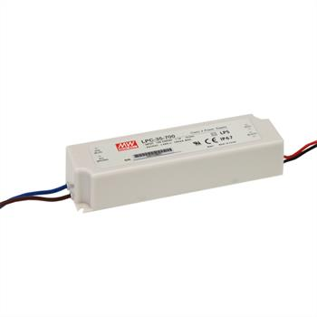 LED power supply 34W 9-48V 700mA ; MeanWell, LPC-35-700 ; Constant current