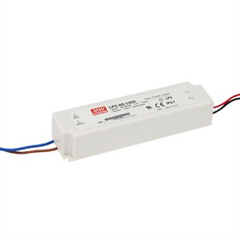 LED power supply 59W 9-42V 1400mA ; MeanWell, LPC-60-1400 ; Constant current