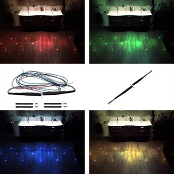 Tile cross LED 5mm RGB for programmable color changing using a RGB controller