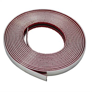 Chrome decoration strip 14mm x 5m ; Car strip universal adhesive flexible