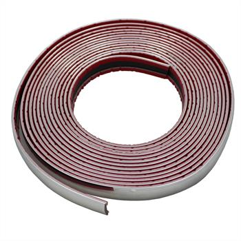 Chrome decoration strip 16mm x 5m ; Car strip universal adhesive flexible