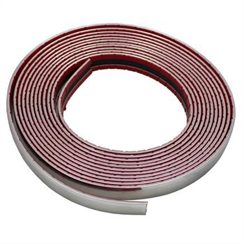 Chrome decoration strip 18mm x 5m ; Car strip universal adhesive flexible