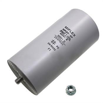 AnlaufKondensator MotorKondensator 80µF 450V 60x119mm Stecker M8 ; Miflex ; 80uF