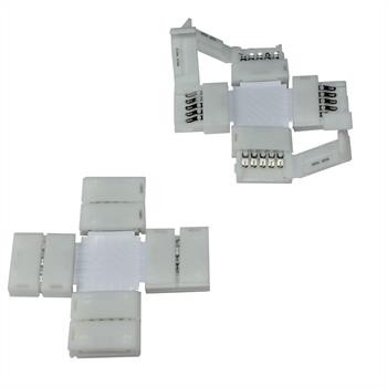 Connector for RGBW RGB+W 10mm LED Strip Strips ; + connector