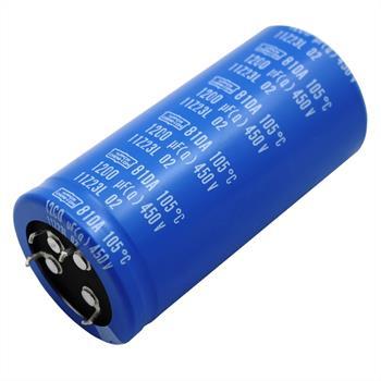 4-Pin Elko Kondensator 1200µF 450V 105°C ; E81D451VSD122QB80T ; 1200uF