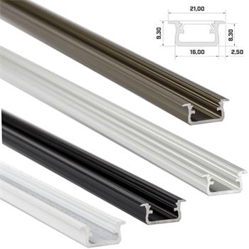 LED Aluminium inlay profile 1m 16x9mm (Type B) for LED strips