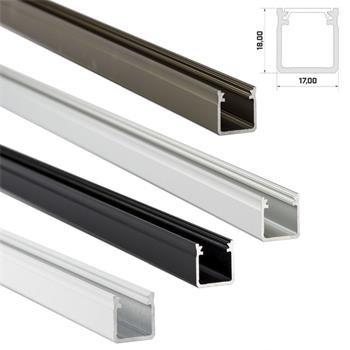 LED Aluminium profile extra high 1m 17x18mm (Type Y) for LED strips