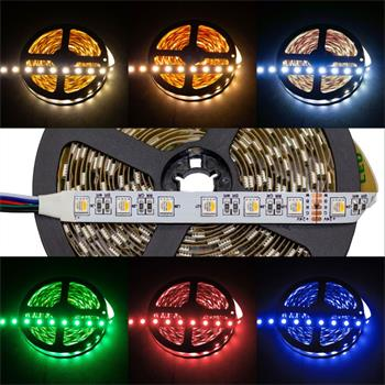 RGBW RGB+W 3000K LED Streifen / LED Strip 4in1 Chip 5m ; IP20 ; 300LEDs ; 24V