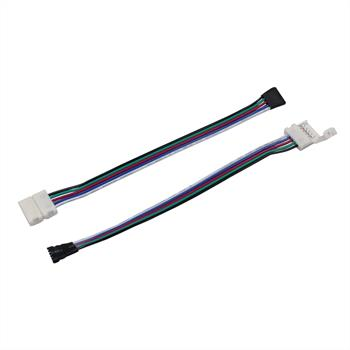 Connector for RGBW+WW CCT LED Strips connector-cable-clip ; Length 17cm