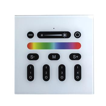 RGBW RGB+W Wall Touch Panel Controller ; RF RadioFrequency suitable for MiLight