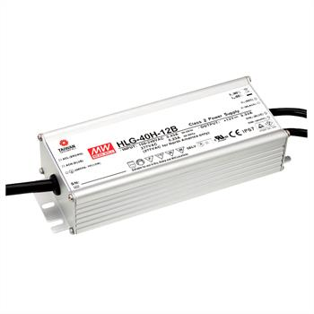 LED power supply 40W 12V 3,33A ; MeanWell HLG-40H-12B ; dimming function