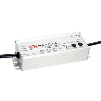 LED power supply 60W 24V 2,5A ; MeanWell HLG-60H-24B ; dimming function
