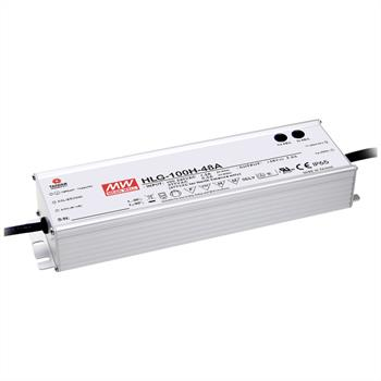LED power supply 96W 24V 4A ; MeanWell HLG-100H-24B ; dimming function