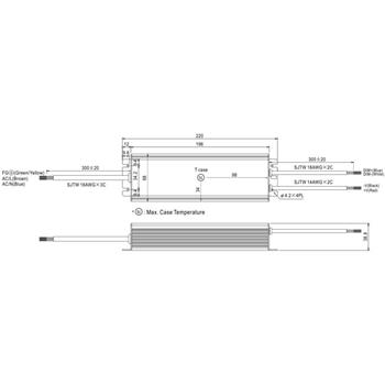 LED Netzteil 120W 24V 5A ; MeanWell HLG-120H-24B ; dimmbar 1-10V PWM