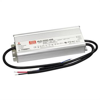 LED power supply 320W 24V 13,34A ; MeanWell HLG-320H-24B ; dimming function