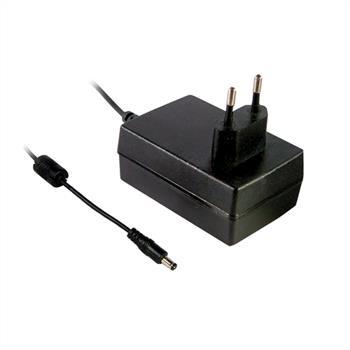 Steckernetzteil 36W 24V 1,5A ; MeanWell GS36E24-P1J ; EU-Plug 5,5/2,1mm