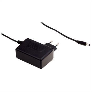 Steckernetzteil schlank 25W 24V 1,04A; MeanWell SGA25E24-P1J ; EU-Plug 5,5/2,1mm
