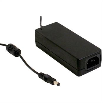 Desktop power supply 40W 24V 1,67A ; MeanWell GS40A24-P1J ; 5,5/2,1mm
