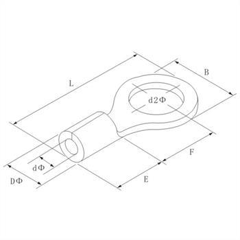 25x Quetschkabelschuh blank 10-16mm² ; Ringkabelschuh Kabelschuh