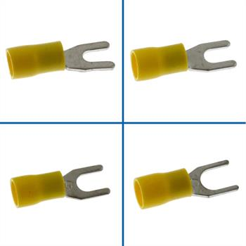 25x Fork Terminal Insulated 4,0-6,0mm² yellow ; Forked Cable Lug