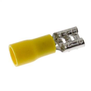 25x Flachsteckhülse teilisoliert 4,0-6,0mm² gelb ; für Flachstecker