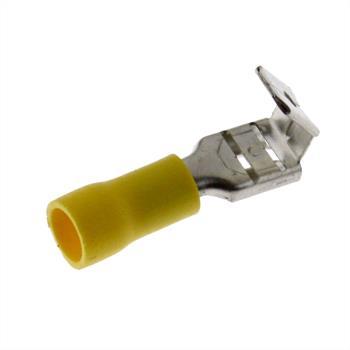 25x Flachsteckhülse mit Abzweig 4,0-6,0mm² gelb ; für Flachstecker
