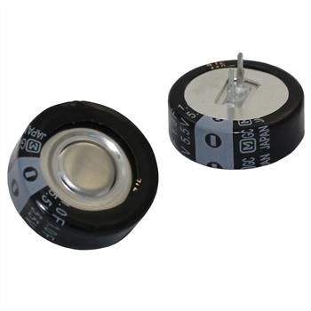 Goldcap Kondens. 1F 5,5V RM5 d20,5x7mm