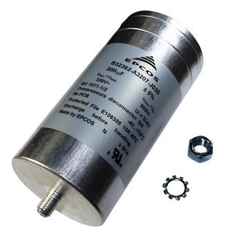 Motor-Kondensator 200µF 330VAC d75x155