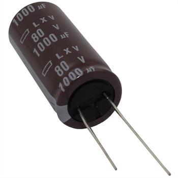Elko Kondensator Radial 1000µF 80V 105°C ELXV800ELL102MM40S d18x40mm 1000uF