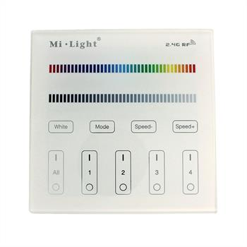 RGBW RGB+W MiLight 4-Zonen Wand Touch Panel Controller Funk RF ; 230V Betrieb