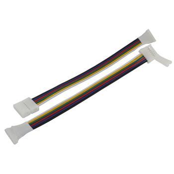 17cm RGBW CCT LED Steckverbinder -> Clip Schnellverbinder 6 Pin Buchse -> Clip für 12mm RGBW CCT LED