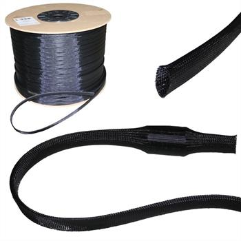 6mm (4-9mm) Expandable polyester braid sleeve cable sleeves