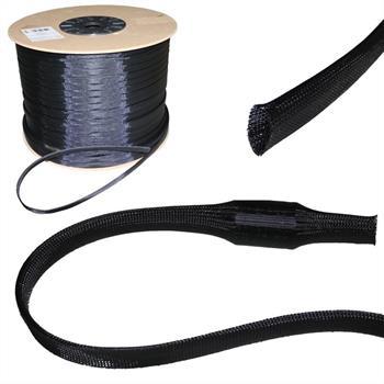 12mm (8-16mm) Gewebeschlauch Geflechtschlauch Kabelschutz Polyester